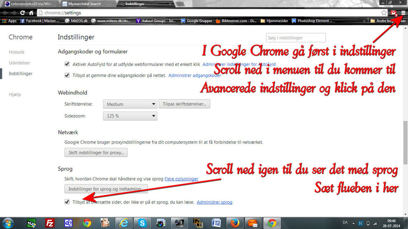 Google Chrome 28, juli 2014